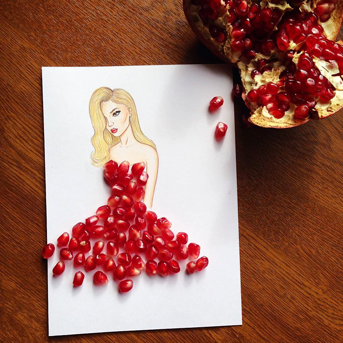 Armenian Illustrator Completes His Cut Out Dresses With Everyday Objects Funzone Am